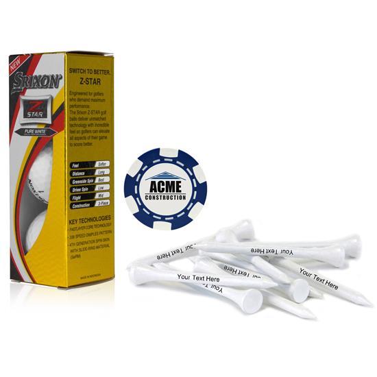 Srixon Sleeve, Chip Marker and Tee Kit