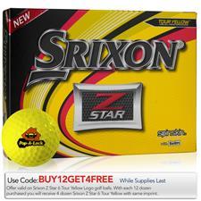 Srixon Custom Logo Z Star Yellow Golf Balls - 2019 Model