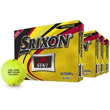 Srixon Z Star Yellow Golf Balls - Buy 3 DZ Get 1 DZ Free