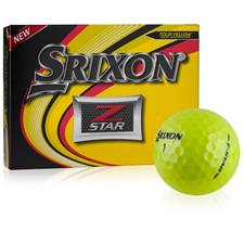 Srixon Z Star Yellow Personalized Golf Balls