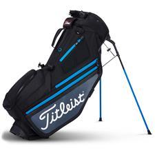 Titleist Hybrid 5 Stand Bag - Black-Charcoal-Process Blue
