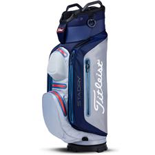 Titleist StaDry Deluxe Cart Bag - Navy-Sleet-Rose