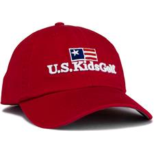 U.S. Kids Men's Twill Personalized Hat - Red - Medium/Large (54 cm)