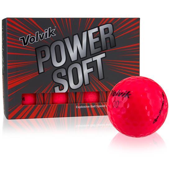 volvik power soft red personalized golf balls golfballscom