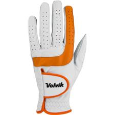 Volvik Tour 2.0 Golf Glove for Women - White-Orange - Small - Left Hand