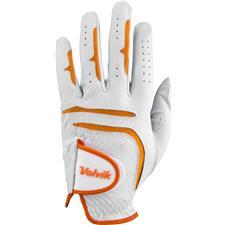 Volvik Tour Golf Glove - White-Orange - Small/Medium  - Left Hand