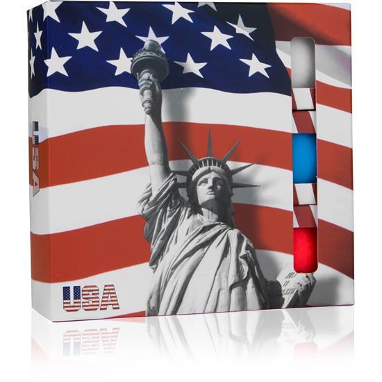 Volvik Vivid Golf Balls - USA 9-Ball Pack