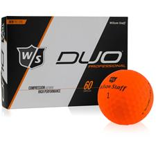 Wilson Staff DUO Professional Orange Personalized Golf Ball