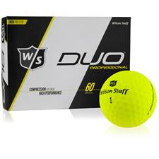 Wilson Staff DUO Professional Yellow Personalized Golf Ball