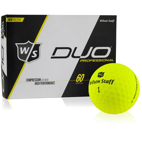 Wilson Staff DUO Professional Yellow Golf Ball