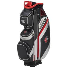 Wilson Staff EXO Personalized Cart Bag - Black-Red