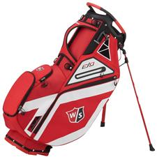 Wilson Staff EXO Personalized Stand Bag - Red-White