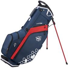 Wilson Staff Feather Stand Bag - Navy-White-Red