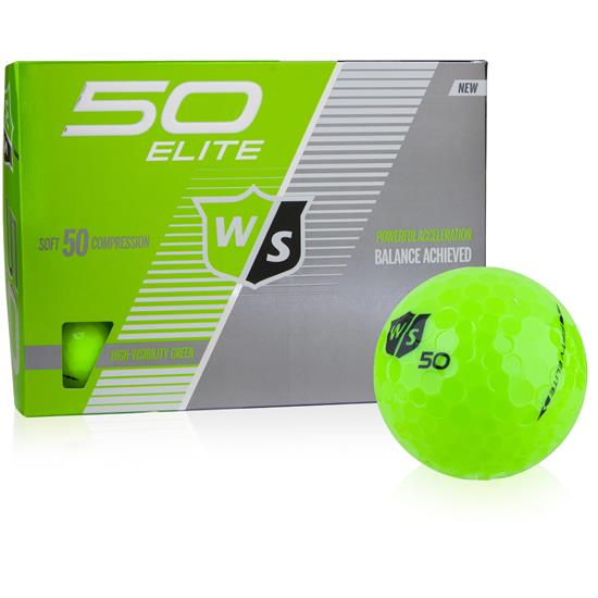 Wilson Staff Fifty Elite Green Golf Balls