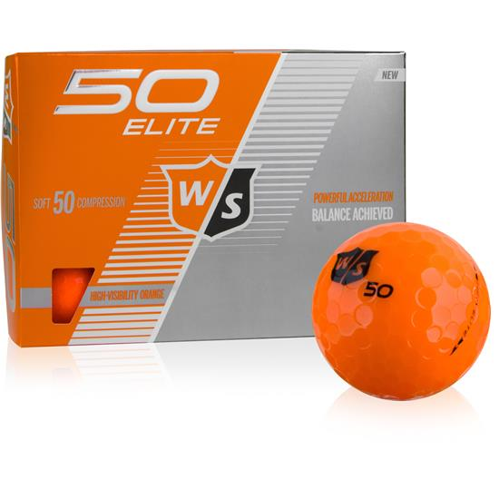Wilson Staff Fifty Elite Orange Golf Balls