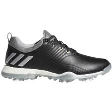 Adidas Core Black-Silver Metallic-Clear Onix Adipower 4orged Golf Shoes for Women