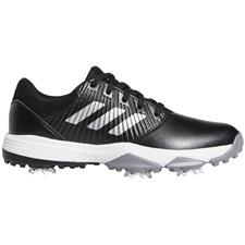 Adidas Core Black-Silver Metallic-Cloud White CP Spiked Golf Shoes for Juniors