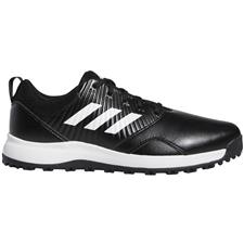 Adidas Core Black-Cloud White-Silver Metallic CP Traxion Spikeless Golf Shoes