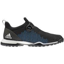 Adidas Core Black-Core White-Shock Cyan Forgefiber BOA Golf Shoes for Women