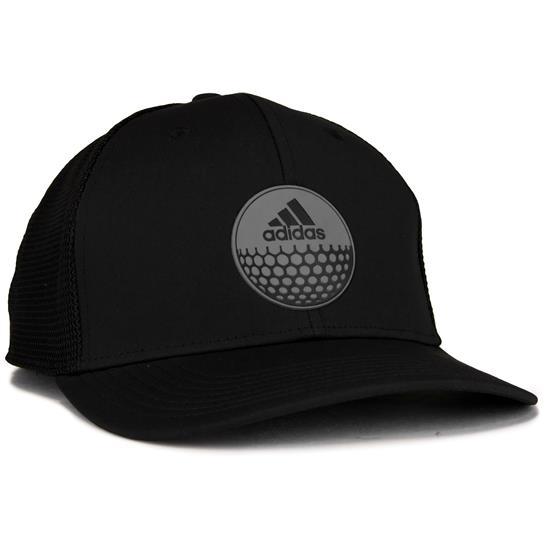 09068016f855b Adidas Men s Globe Trucker Hat - Black-Black Golfballs.com