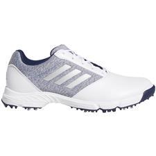 Adidas Cloud White-Silver Metallic-Indigo Tech Response Golf Shoes for Women