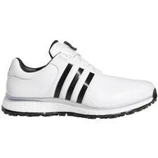 Adidas Cloud White-Core Black-Silver Metallic Tour360 XT Spikeless BOA Golf Shoes