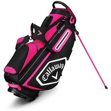Callaway Golf Chev Stand Bag for Women - Pink-White-Black