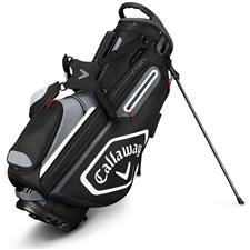 Callaway Golf Chev Stand Bag - Black-Titanium-White