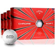 Callaway Golf Chrome Soft Personalized Golf Balls - Buy 3 DZ Get 1 DZ Free