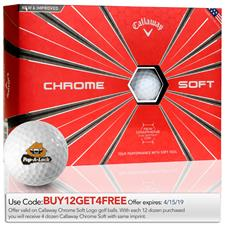 Callaway Golf Chrome Soft Custom Logo Golf Balls