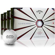 Callaway Golf Chrome Soft X Personalized Golf Balls - Buy 3 DZ Get 1 DZ Free