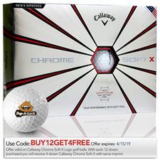 Callaway Golf Custom Logo Chrome Soft X Golf Balls