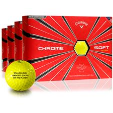 Callaway Golf Chrome Soft Yellow Golf Balls - Buy 3 Get 1 Free