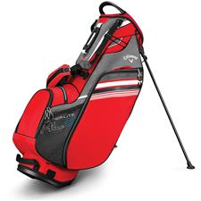 Callaway Golf Hyper-Lite 3 Double Strap Stand Bag - Red-Titanium-White