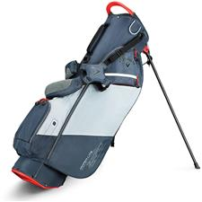 Callaway Golf Hyper-Lite Zero Double Strap Stand Bag - Titanium-Silver-Orange