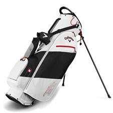 Callaway Golf Hyper-Lite Zero Double Strap Stand Bag - White-Black-Red