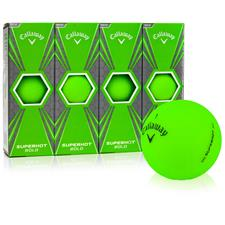 Callaway Golf Superhot Bold Matte Green Custom Logo Golf Balls
