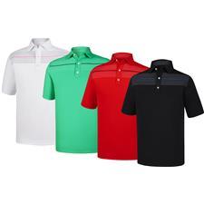 FootJoy Custom Logo Athletic Fit Chest Pinstripe Self Collar Shirt
