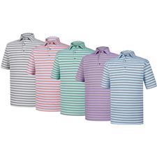 FootJoy Custom Logo Athletic Fit Multi Stripe Self Collar Shirt