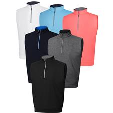FootJoy Custom Logo Performance Half-Zip Vest with Gathered Waist