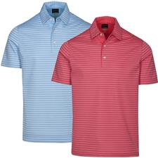 Greg Norman Men's Protek ML75 Microlux 2 Below Stripe Polo