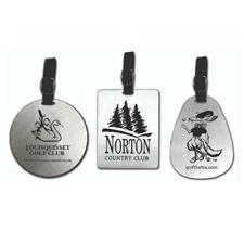 Logo Golf Aluminum Bag Tag