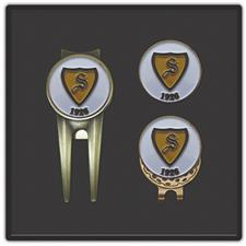 Logo Golf Boss Divot Tool and Hat Clip Set