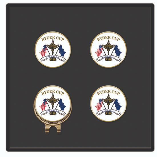 Logo Golf Classic Hat Clip and 4 Ball Markers
