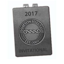 Logo Golf Engravable Die Struck Money Clip