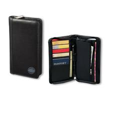 Logo Golf Top Grain Leather Travel Wallet