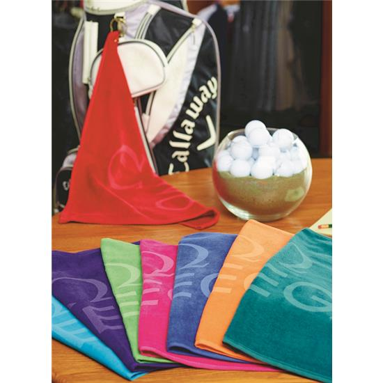 Logo Turkish Signature Colored Midweight Golf Towel