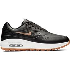 Nike Black-Metallic Red Bronze-Summit White Air Max 1G Golf Shoes for Women