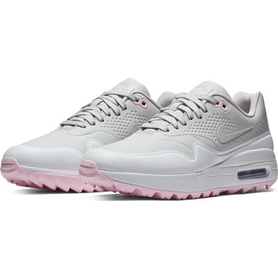 huge selection of a40f3 d7fb3 Nike Air Max 1G Golf Shoes for Women - Vast Grey-Vast Grey-White-Pink Foam  - 8 1 2 Medium Golfballs.com