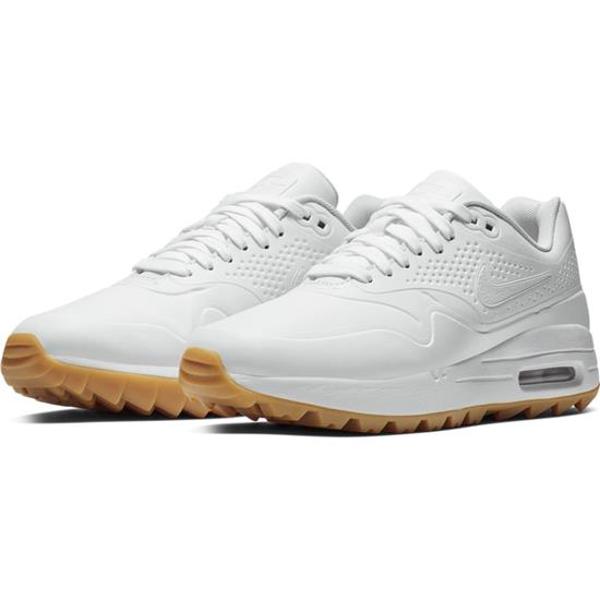 watch 29ee1 ef8b1 Nike Air Max 1G Golf Shoes for Women - White-White-Gum Light Brown - 10  Medium